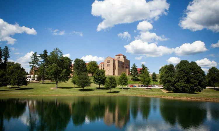 Bede Hall on the campus of Saint Meinrad Archabbey.